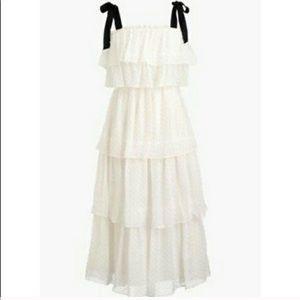 NWT J Crew Silk Tiered Dress